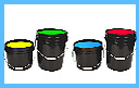5 Gallon Buckets of Paint for UV glow Paint Parties